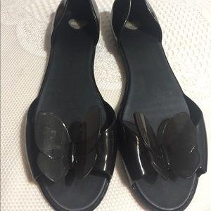 Mel by Melissa black flat sandal